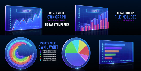 animated graph and infographic template by masterdot videohive