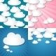 Paper Clouds Backgrounds. - GraphicRiver Item for Sale