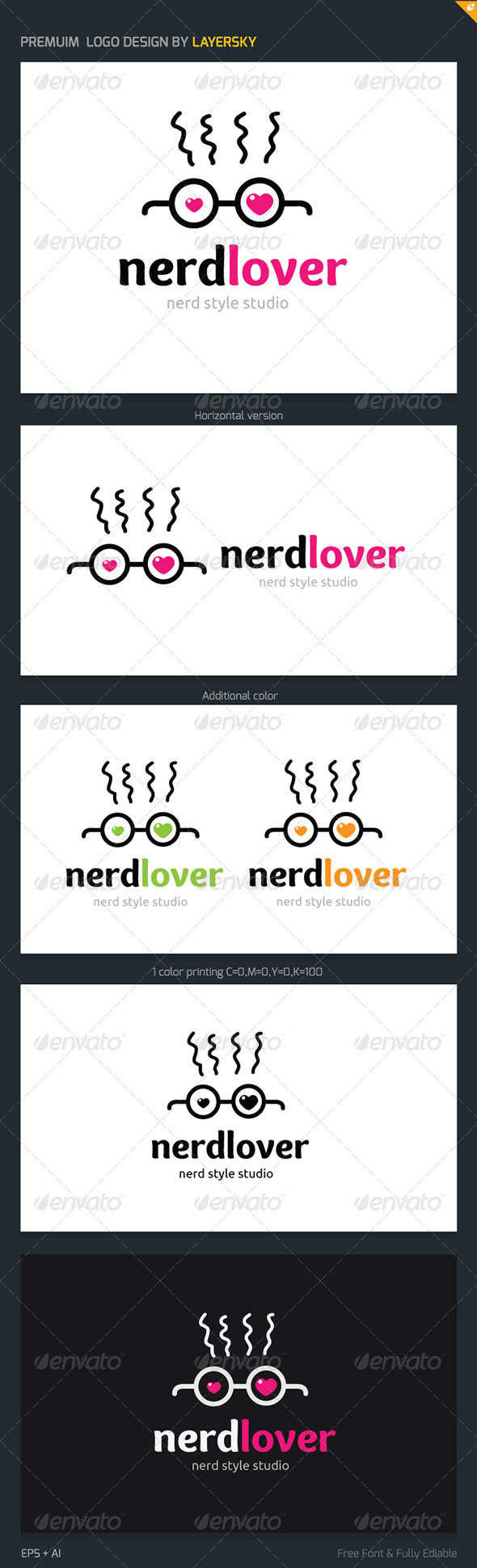 Nerd Lover Logo - Humans Logo Templates