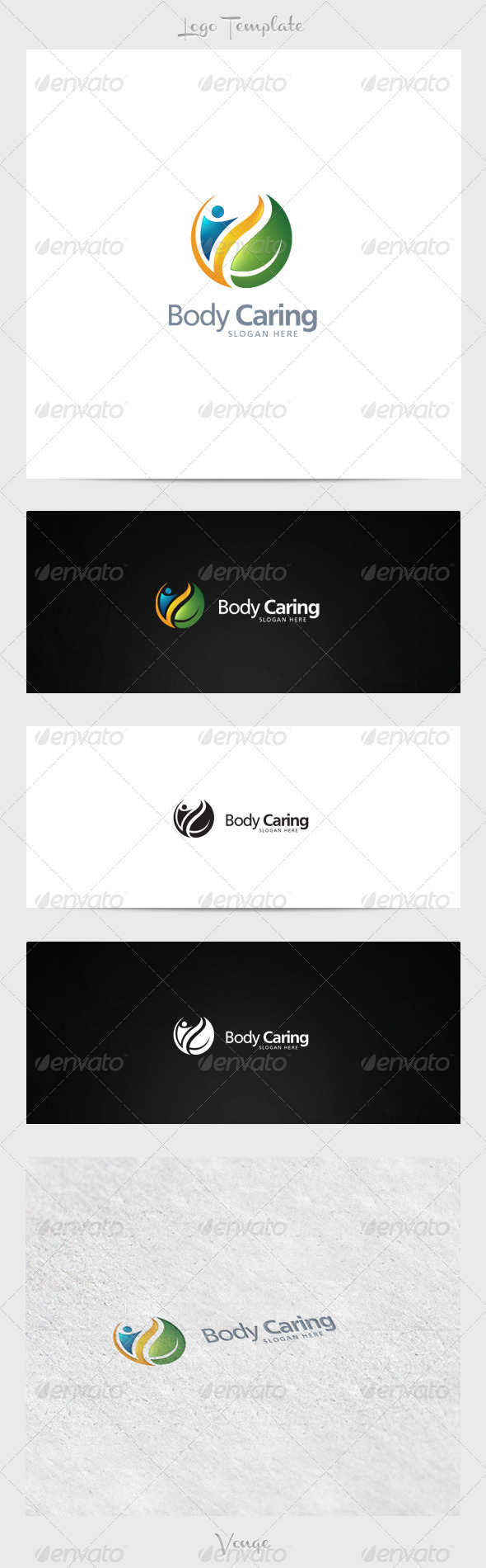 Body Caring - Nature Logo Templates