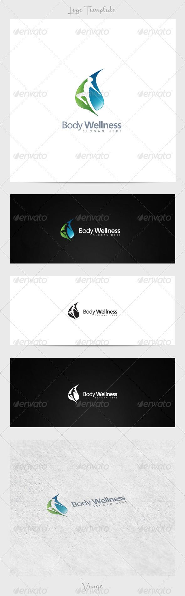 Body Wellness - Nature Logo Templates