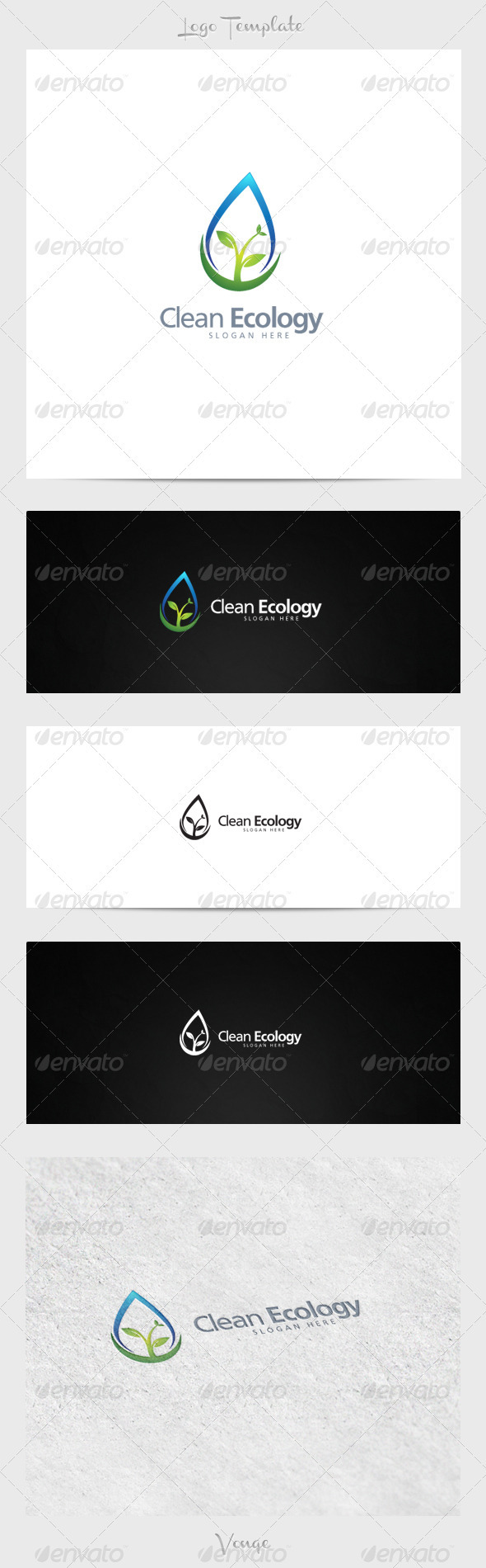 Clean Ecology - Nature Logo Templates