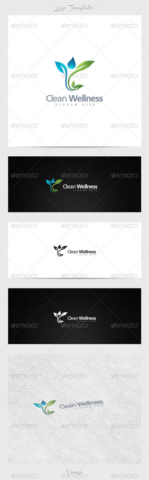 Clean Wellness - Nature Logo Templates
