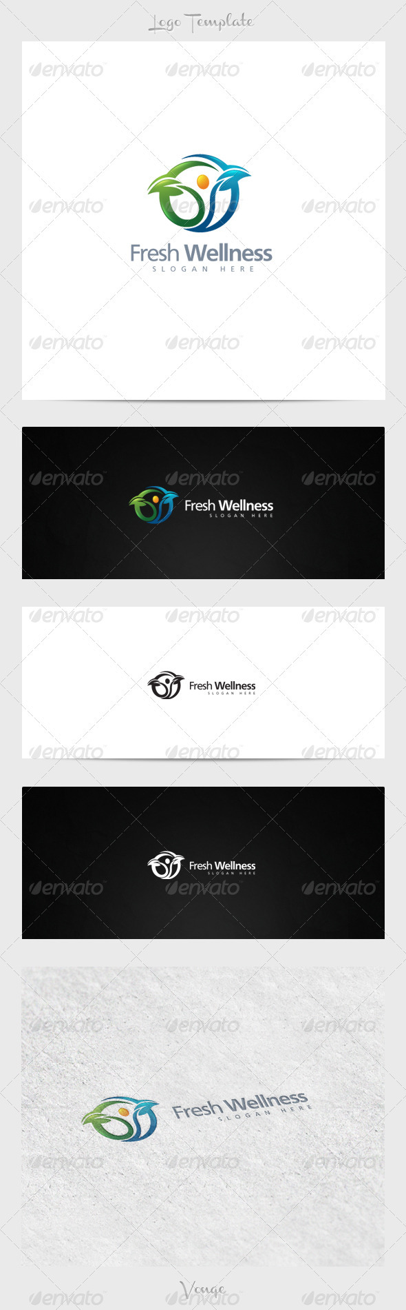 Fresh Wellness - Nature Logo Templates