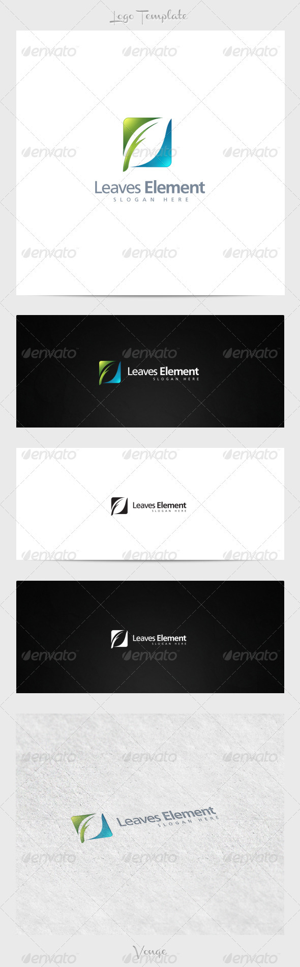 Leaves Element - Nature Logo Templates