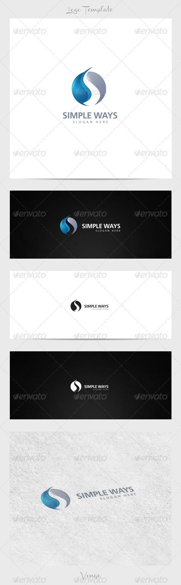 Simple Ways - Symbols Logo Templates