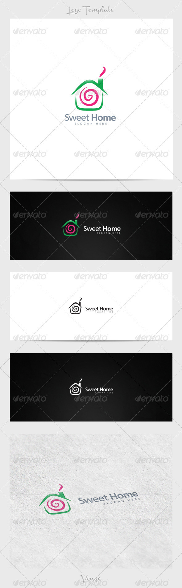 Sweet Home - Buildings Logo Templates