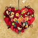 Heart Decorated with Flowers and Birds - GraphicRiver Item for Sale