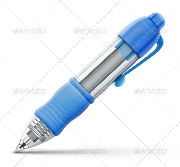 Blue Ballpoint Pen  - Objects Vectors