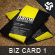 Business Card Design 1 - GraphicRiver Item for Sale