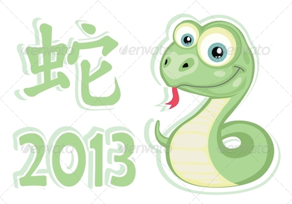 Snake Sticker - Animals Characters