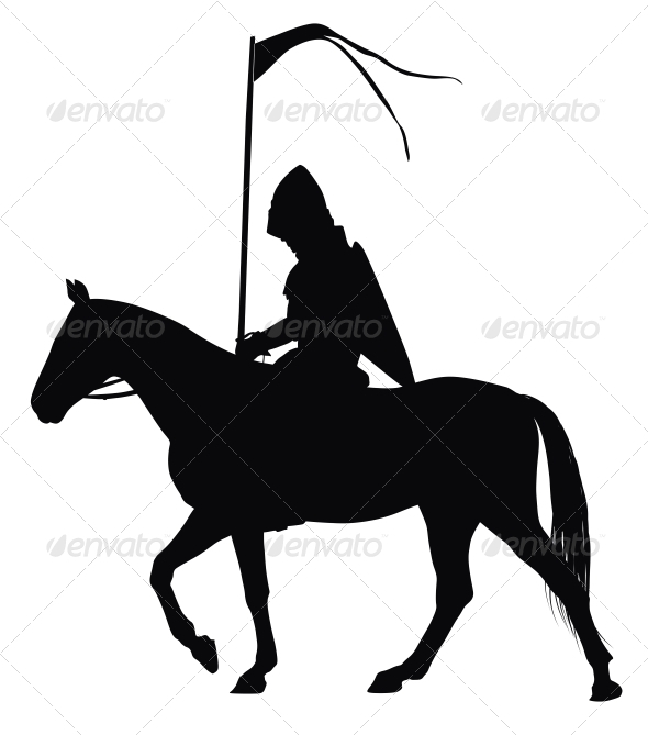 Vector Horseman - People Characters