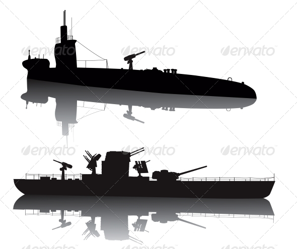 Military silhouettes - Travel Conceptual