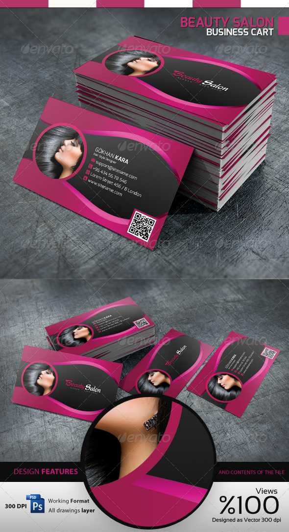 Beauty Salon - Business Card by GokhanKara | GraphicRiver