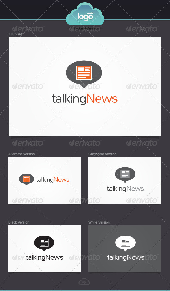Talking News Logo Template by LogoHeaven | GraphicRiver