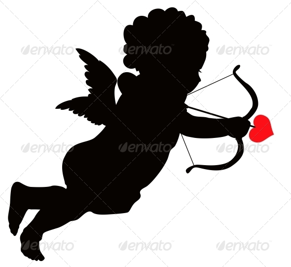 Cupid Silhouette - Valentines Seasons/Holidays
