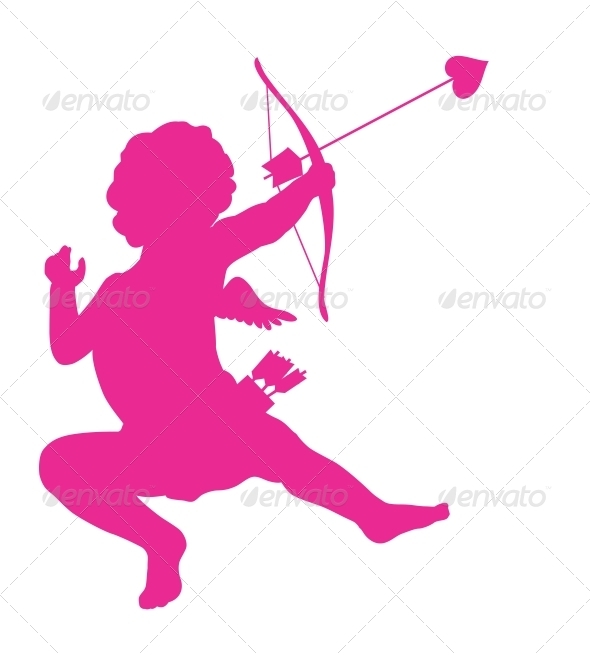 Cupid Silhouette - Valentines Seasons/Holidays