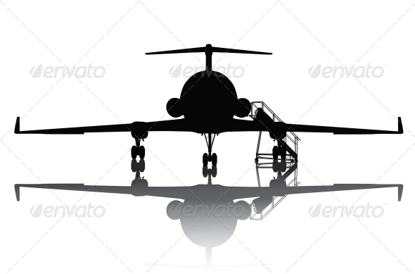 Aircraft Silhouette - Travel Conceptual