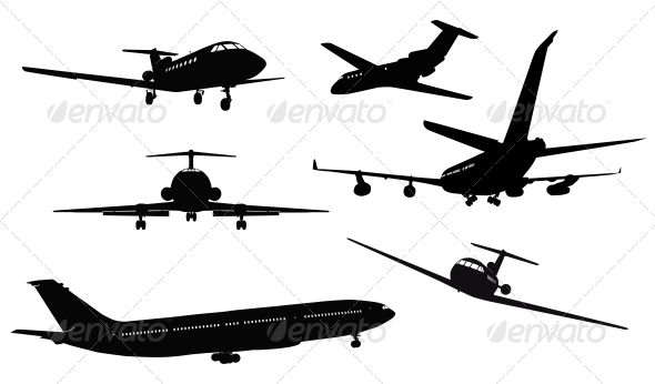 Aircraft Silhouettes - Travel Conceptual