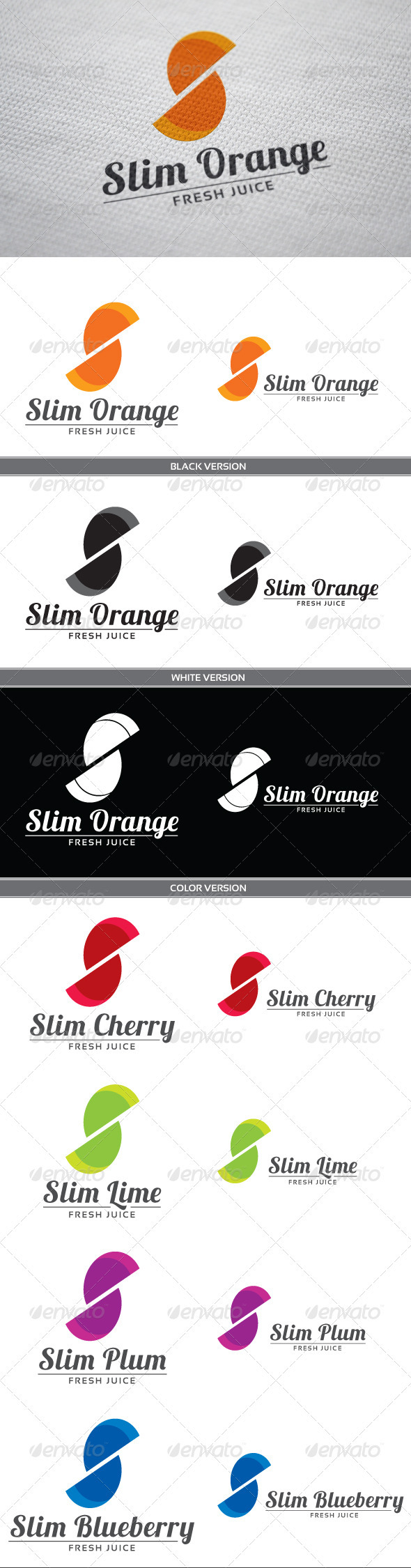 Slim Orange - Letters Logo Templates