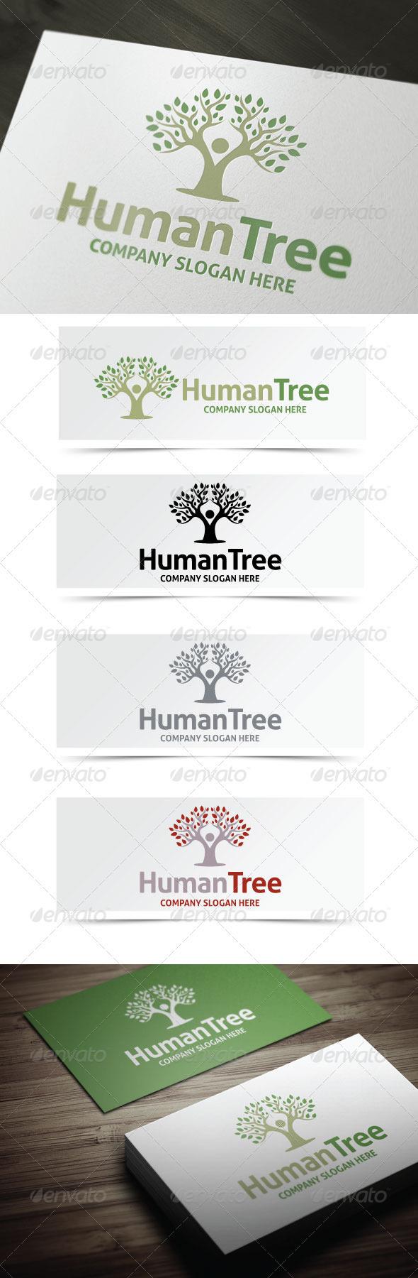 Human Tree Logo - Humans Logo Templates