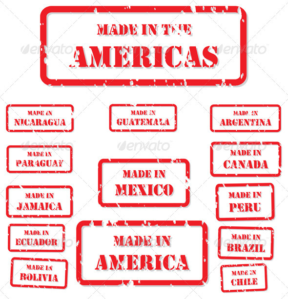 Made in America Stamps - Industries Business