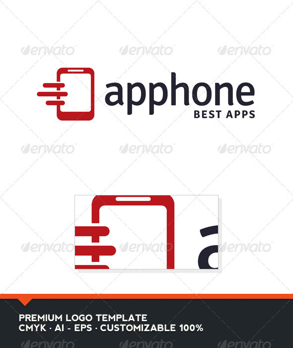 Apphone - Phone Logo Template - Objects Logo Templates