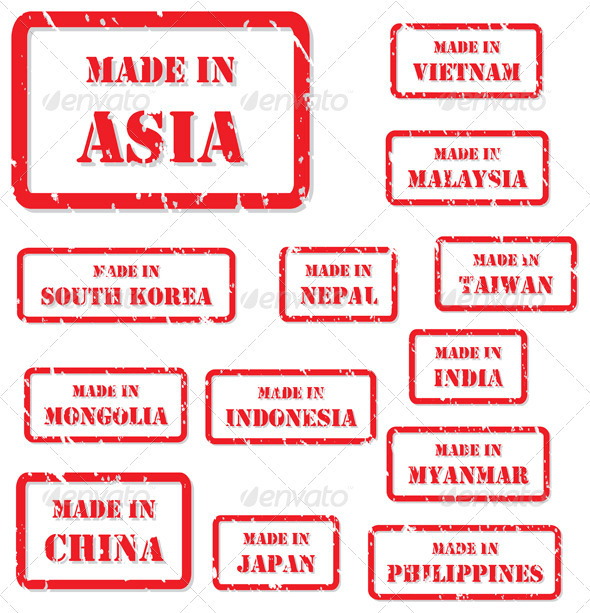 Made in Asia Rubber Stamps - Concepts Business