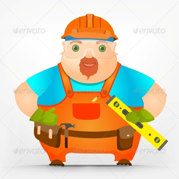 Cheerful Chubby Men - People Characters