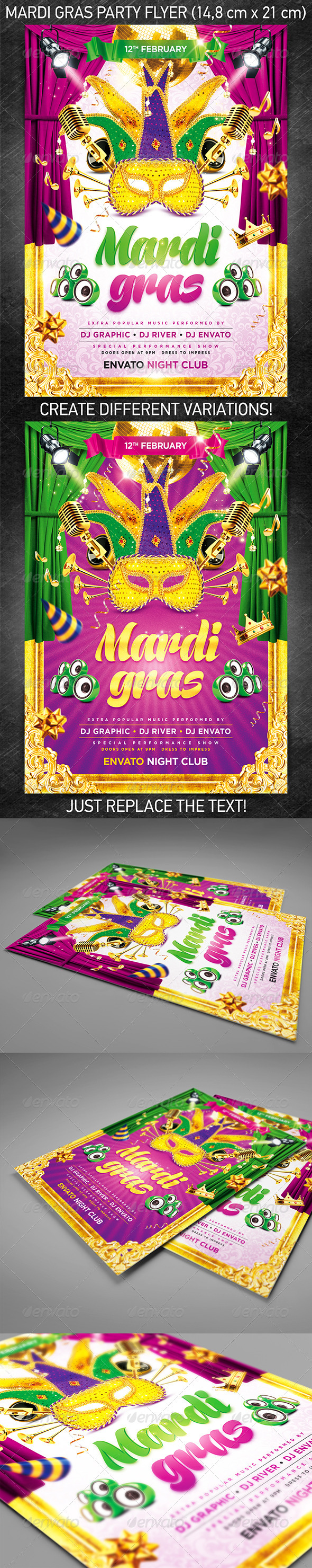 Mardi Gras Party Flyer VOL.1 - Holidays Events