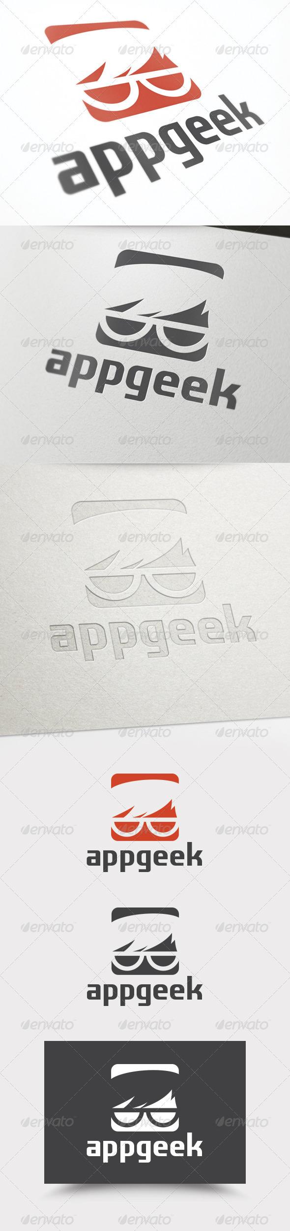 App Geek Logo - Humans Logo Templates