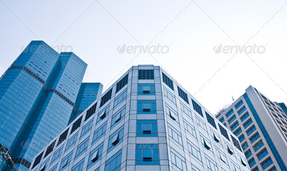 High-Rise Buildings in CBD area - Stock Photo - Images
