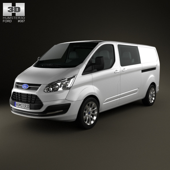 Ford Transit Custom Crew Van LWB 2013 - 3DOcean Item for Sale