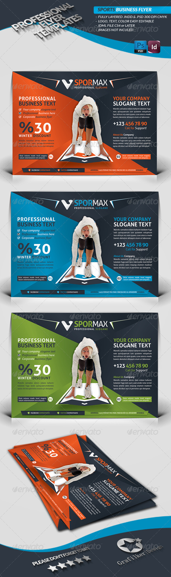 Sport Template Business Flyer - Corporate Flyers