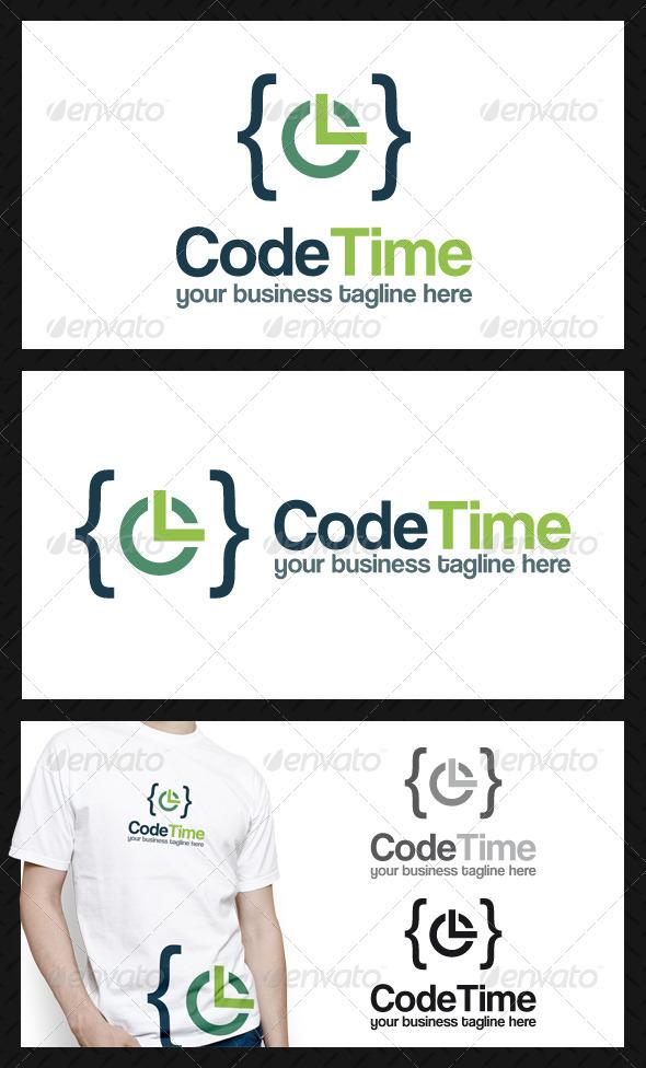 Code Time Logo Template - Symbols Logo Templates