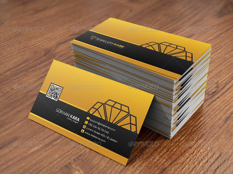 Diamond Jewelry - Business Card by GokhanKara | GraphicRiver