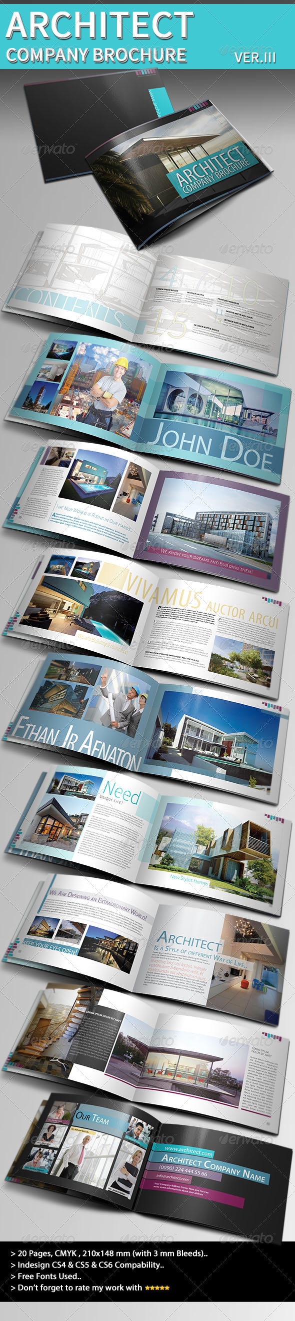 Architecture Brochure Template Veriii By Balkay Graphicriver
