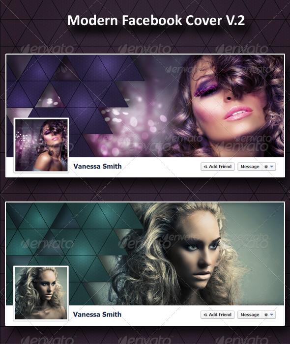 Modern Fb Timeline Cover V.2 - Facebook Timeline Covers Social Media