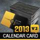2013 Calendar v2 Business Card - GraphicRiver Item for Sale