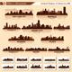 Skyline City Set. 10 Cities of USA #5 - GraphicRiver Item for Sale