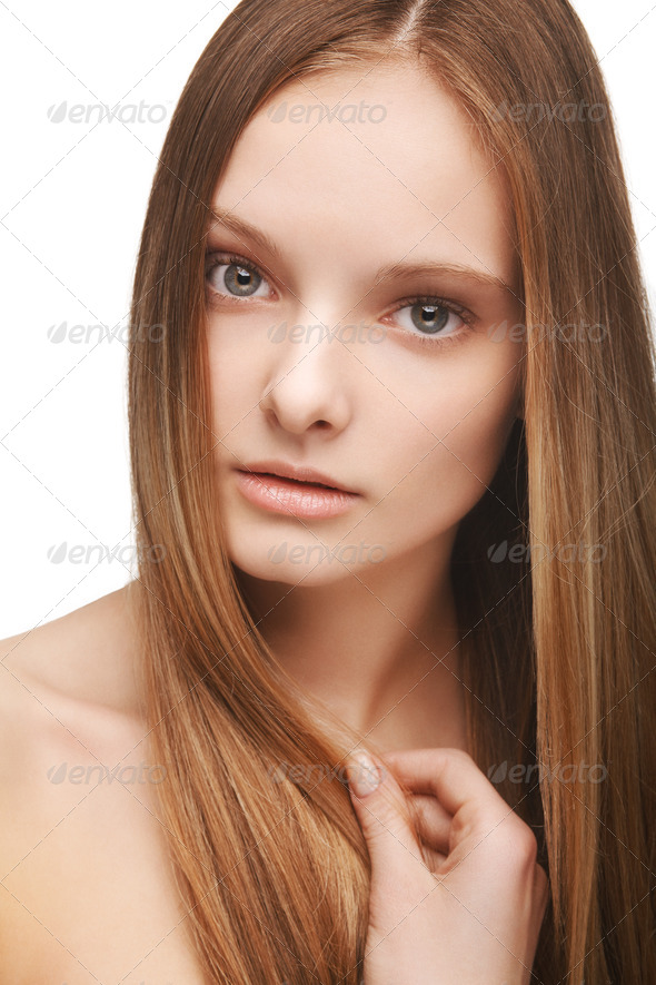 Girl with long hair - Stock Photo - Images