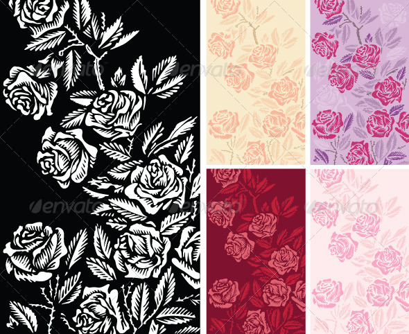 Backgrounds with Roses - Backgrounds Decorative
