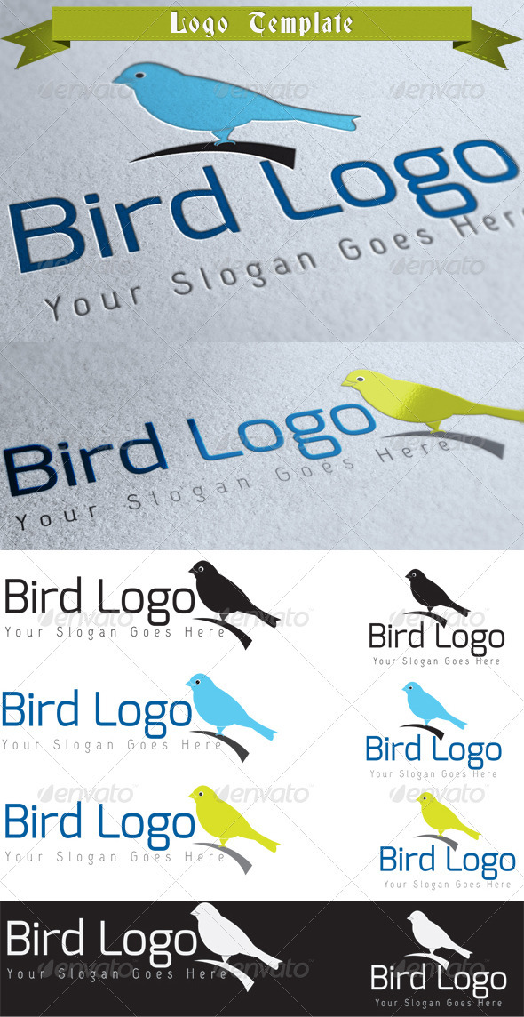 Bird Logo Template - Animals Logo Templates
