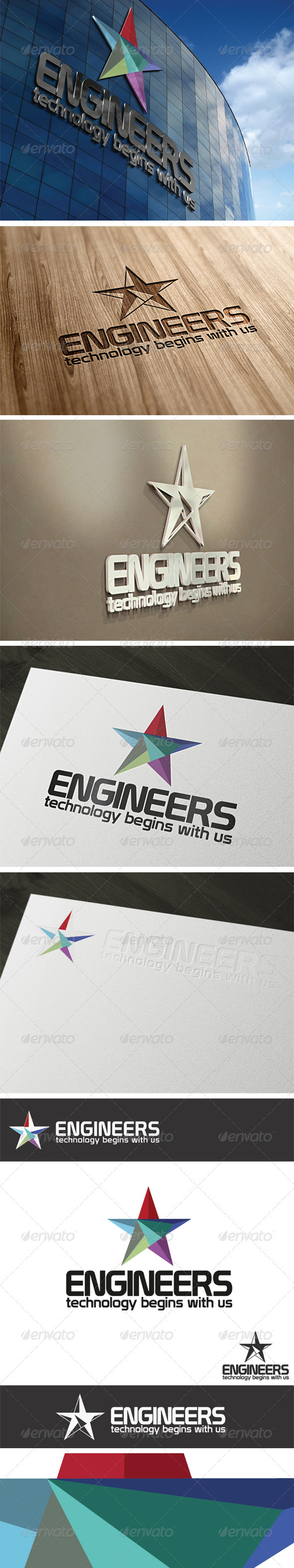 Engineers Logo Template - Vector Abstract