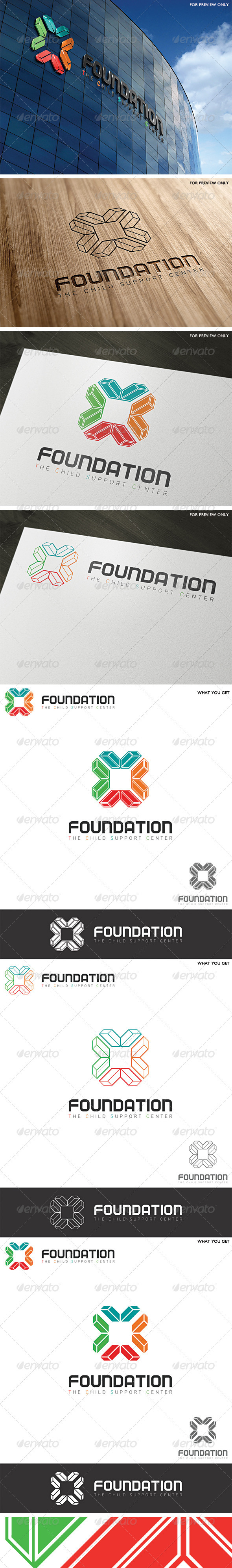 Foundation Support Center Logo Template - Vector Abstract