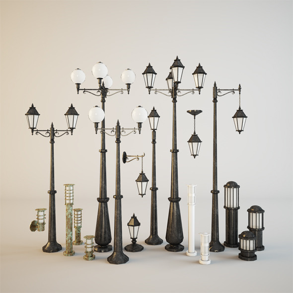 Street lamps - 3DOcean Item for Sale
