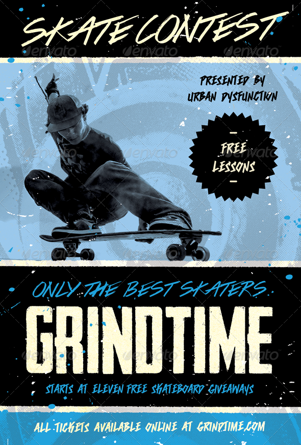 Grind Time - Skate Contest Flyer Template - Sports Events