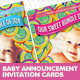 Baby Announcement Card PSD Template - GraphicRiver Item for Sale