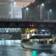 Boat Traffic on Chicago River at Night - VideoHive Item for Sale