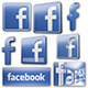 Facebook Icons and Logos - 3DOcean Item for Sale